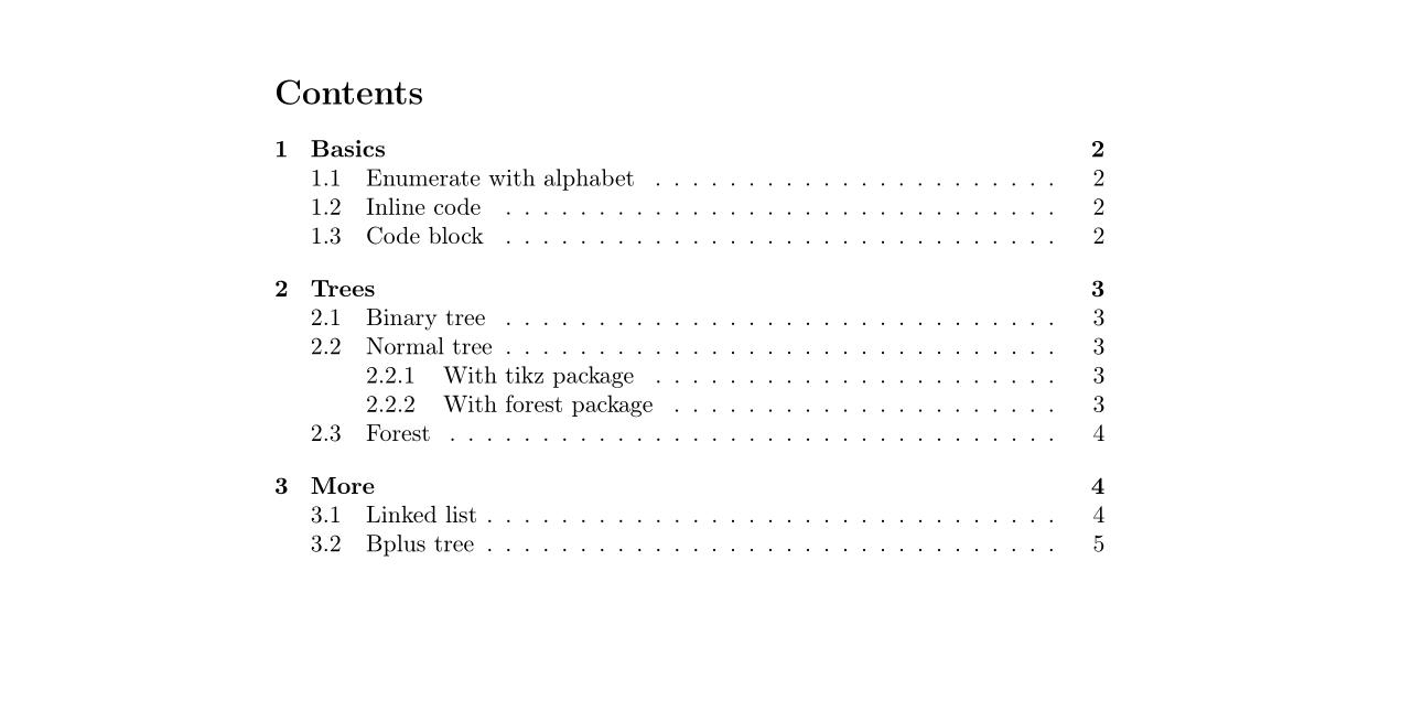 整理和分享一些数据结构作业用到的LaTeX 排版技巧